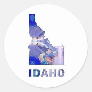 Polygon Mosaic State Map  IDAHO Classic Round Sticker
