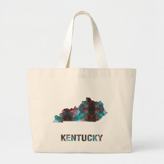 Polygon Mosaic State Map  KENTUCKY Tote Bags