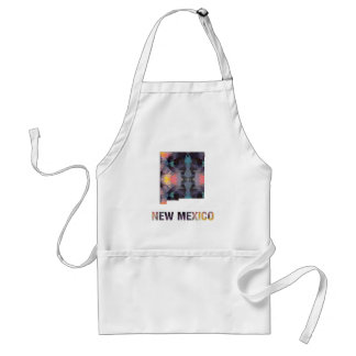 Polygon Mosaic State Map  NEW MEXICO Adult Apron