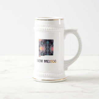 Polygon Mosaic State Map  NEW MEXICO Beer Stein