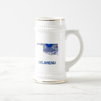 Polygon Mosaic State Map OKLAHOMA Beer Stein