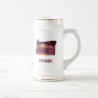 Polygon Mosaic State Map OREGON Beer Stein