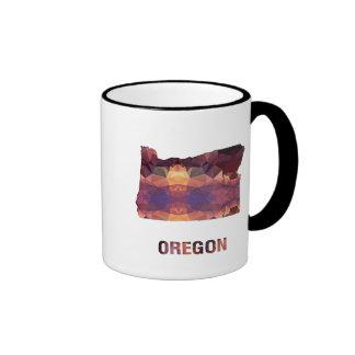 Polygon Mosaic State Map OREGON Ringer Coffee Mug