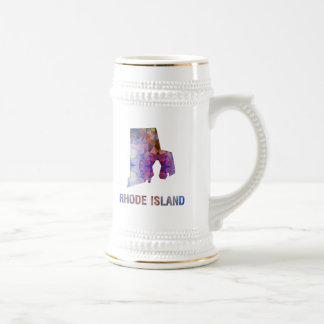 Polygon Mosaic State Map RHODE ISLAND Beer Stein