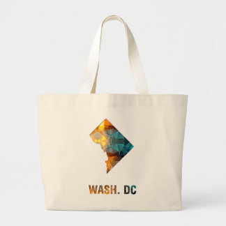 Polygon Mosaic State Map WASH DC Bags