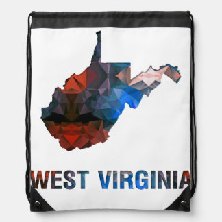 Polygon Mosaic State Map WEST VIRGINIA Backpack