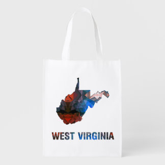 Polygon Mosaic State Map WEST VIRGINIA Market Tote