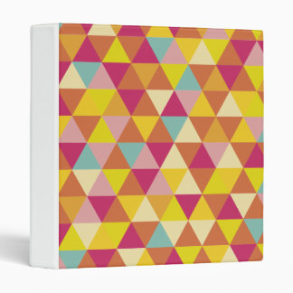 Polygon Multi color Triangles in Geometrical Shape 3 Ring Binder