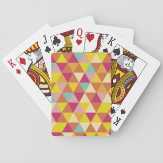Polygon Multi color Triangles in Geometrical Shape Card Decks
