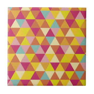 Polygon Multi color Triangles in Geometrical Shape Ceramic Tile