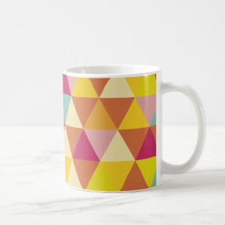 Polygon Multi color Triangles in Geometrical Shape Coffee Mug