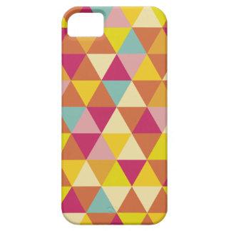 Polygon Multi color Triangles in Geometrical Shape iPhone SE/5/5s Case