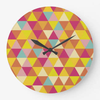 Polygon Multi color Triangles in Geometrical Shape Large Clock