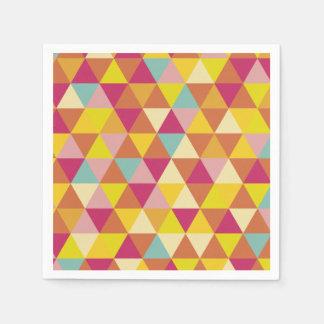 Polygon Multi color Triangles in Geometrical Shape Paper Napkin