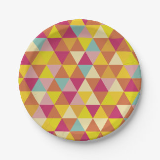 Polygon Multi color Triangles in Geometrical Shape Paper Plate  sc 1 st  Zazzle & Hexagon Shapes Plates | Zazzle