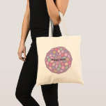 polygon pattern with a soft color tone - tote bag