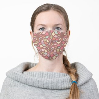 polygon pattern with calm colors - cloth face mask