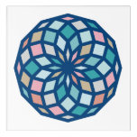 polygon pattern with cool colors - acrylic print