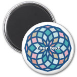 polygon pattern with cool colors - magnet