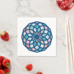 polygon pattern with cool colors - napkins