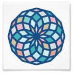 polygon pattern with cool colors - photo print