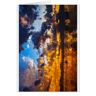 Polygon sunset card