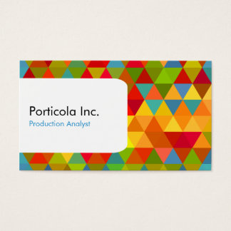 Polygon Triangle Geometric Business Cards