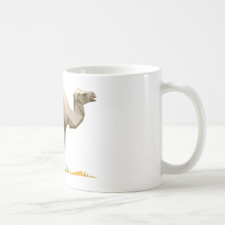 polygon trifishes graphic kind camel coffee mug