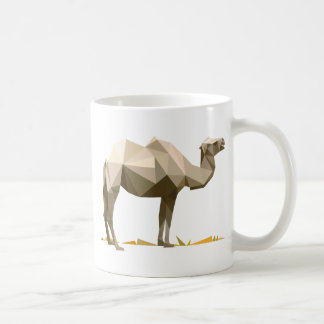 polygon trifishes graphic kind camel classic white coffee mug