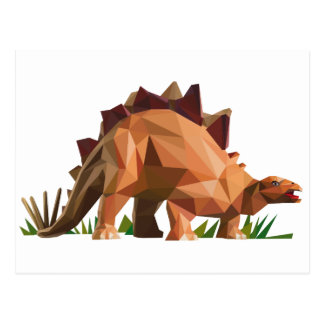 polygon trifishes graphic kind dinosaur postcard