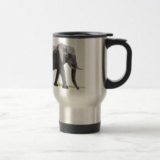 polygon trifishes graphic kind elephant 15 oz stainless steel travel mug