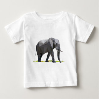 polygon trifishes graphic kind elephant baby T-Shirt