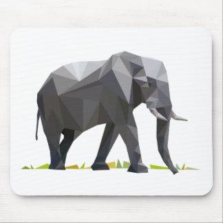 polygon trifishes graphic kind elephant mousepad
