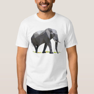 polygon trifishes graphic kind elephant tee shirts