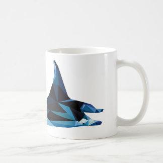 polygon trifishes graphic kind manta coffee mug