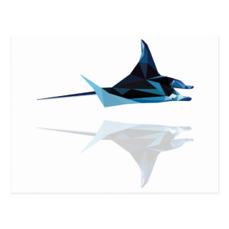 polygon trifishes graphic kind manta post cards