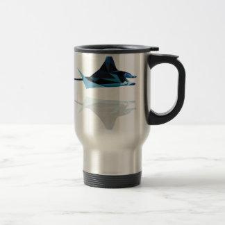 polygon trifishes graphic kind manta travel mug