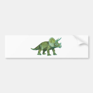 polygon trifishes graphic kind triceratops bumper sticker