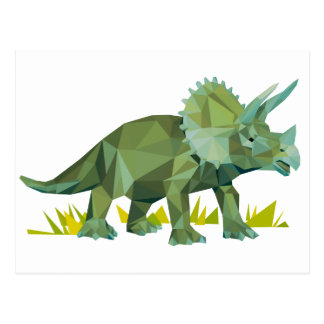 polygon trifishes graphic kind triceratops postcard