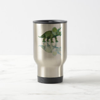 polygon trifishes graphic kind triceratops travel mug