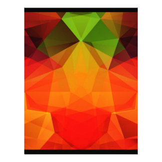 Polygonal abstract background letterhead