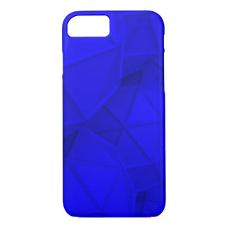 Polygonal Abstract Blue iPhone Case