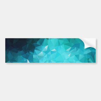 Polygonal Aquamarine Abstract Car Bumper Sticker