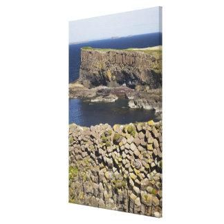 Polygonal basalt, Staffa, off Isle of Mull, Gallery Wrap Canvas