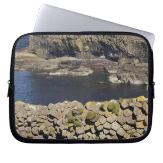 Polygonal basalt, Staffa, off Isle of Mull, Laptop Sleeves