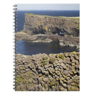 Polygonal basalt, Staffa, off Isle of Mull, Notebook