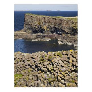 Polygonal basalt, Staffa, off Isle of Mull, Postcard