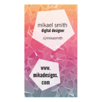 polygonal, polygon, triangles, pentagon, geometric forms, geometrical, shapes, modern, colourful, trendy, Business Card with custom graphic design