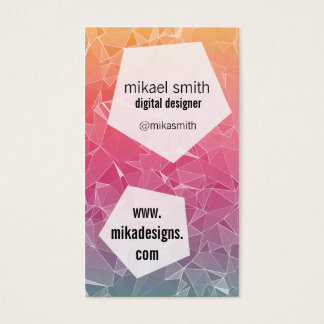 Polygonal Business Card