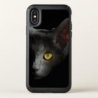 Polygonal Cat Speck iPhone X Case